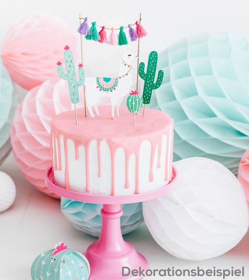 "Cake-Topper-Set ""Lama und Kaktus"" - 5-teilig"