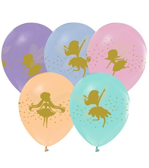 "Lufballon-Set ""Fee"" - Farbmix Pastell - 5 Stück"