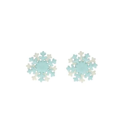"""Funcakes Zuckerdekore """"Schneeflocken"""" - hellblau/weiß - 6 Stück"""