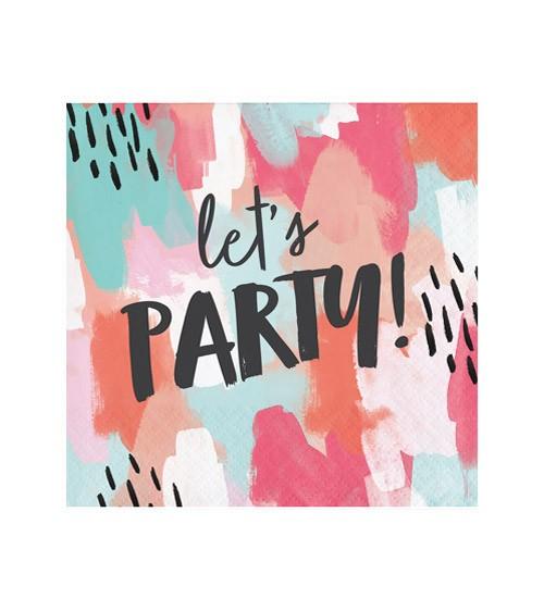 """Cocktail-Servietten """"Lets Party"""" - 24 Stück"""