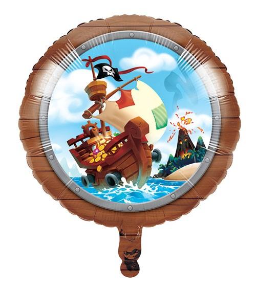 """Runder Folienballon """"Piratenschatz"""" - 45 cm"""