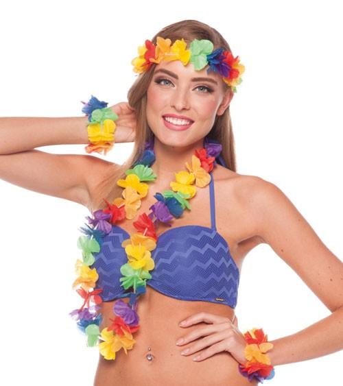 Hawaiianisches Set - bunt - 4-teilig