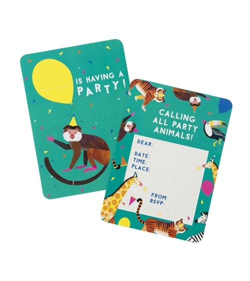 "Einladungskarten ""Safari Geburtstag"" - 8 Stück"