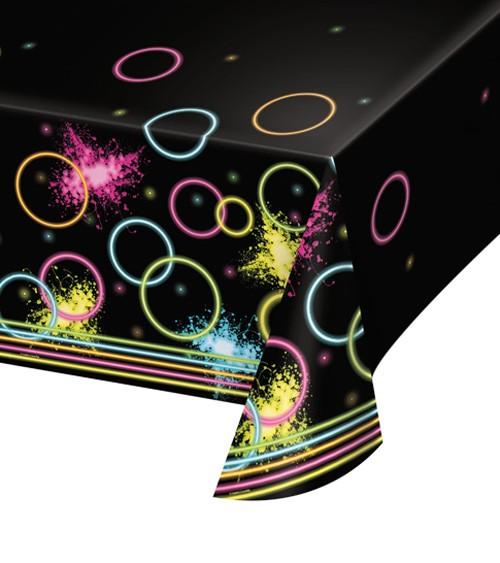 "Kunststoff-Tischdecke ""Neon Party"" - 137 x 259 cm"