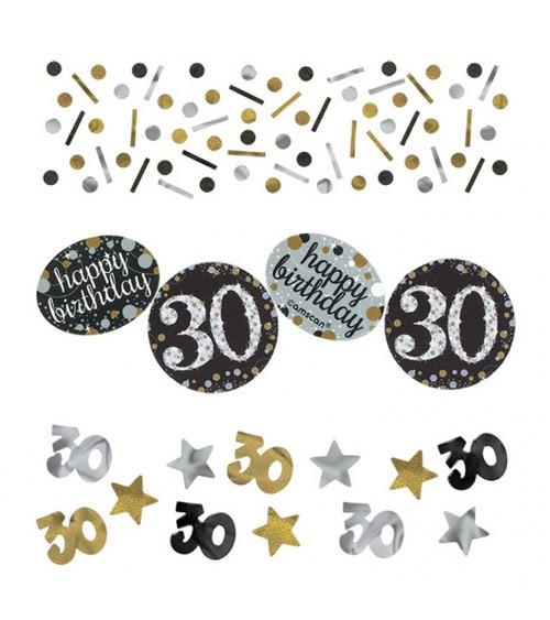 """Konfetti """"Sparkling Celebration"""" - 30. Geburtstag - 34 g"""