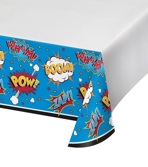 """Kunststoff-Tischdecke """"Superheld"""" - 121 x 223 cm"""