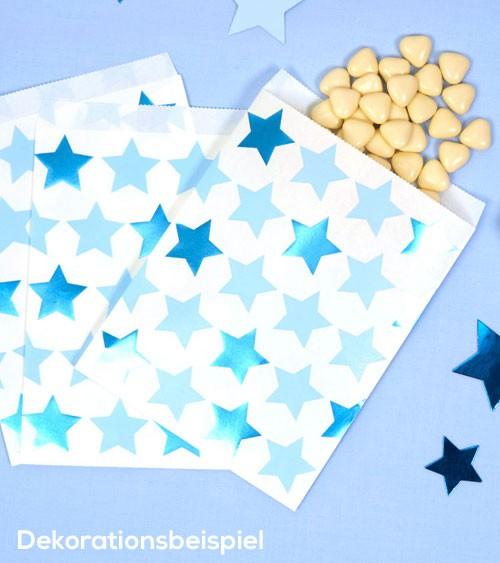 """Süßigkeiten-Tüten """"Little Star Blue"""" - 25 Stück"""