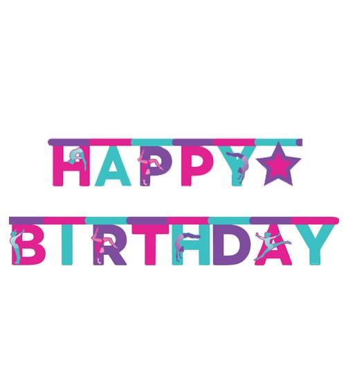 "Happy Birthday-Girlande ""Turnen"" - 3 m"
