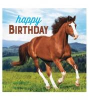"""Servietten """"Pferde"""" - Happy Birthday - 16 Stück"""