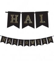 "DIY-Wimpelgirlande ""Halloween"" - schwarz/gold - 1,75 m"