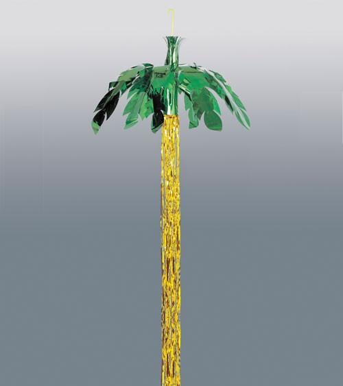 Deko-Palme aus Metallic-Folie zum Aufhängen