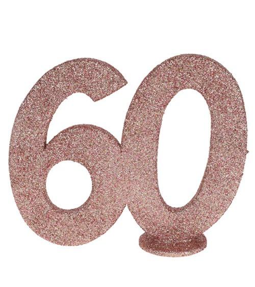 """Tischaufsteller """"60"""" - rosegold - 11 x 10 cm"""