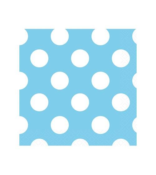 """Cocktail-Servietten """"Big Dots"""" - Powder Blue - 16 Stück"""