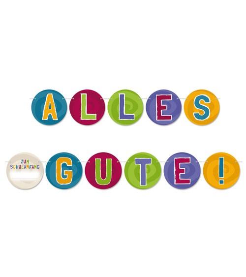 "DIY Einschulungs-Girlande ""Alles Gute"" - personalisierbar - 2 m"