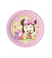 """Kleine Pappteller """"Baby Minnie"""" - 8 Stück"""