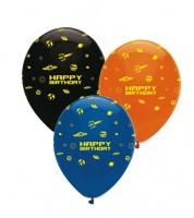 """Luftballon-Set """"Weltraum"""" - Happy Birthday - 6 Stück"""