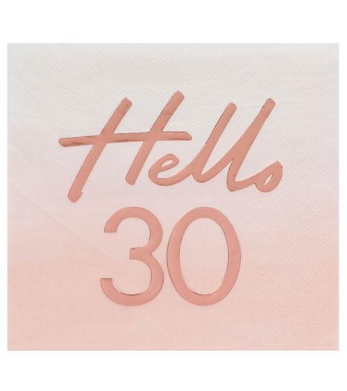"""Servietten """"Mix it up"""" - Hello 30 - ombre rosa, rosegold - 16 Stück"""