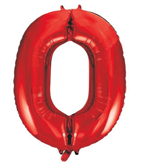 "Supershape-Folienballon ""0"" - rot - 86 cm"