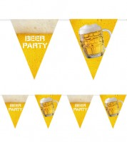 "Wimpelgirlande aus Kunststoff ""Beer-Party"" - 6 m"