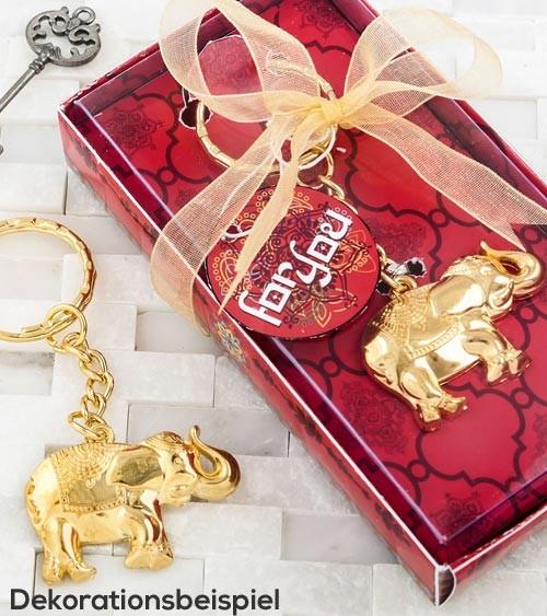 "Schlüsselanhänger ""Elefant"" - gold"