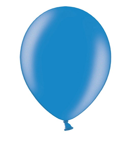 Metallic-Luftballons - cornflower blue - 10 Stück