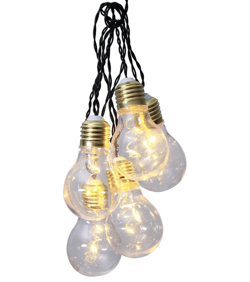 LED-Lichterkette mit Glühbirnen aus Plastik - 1 m