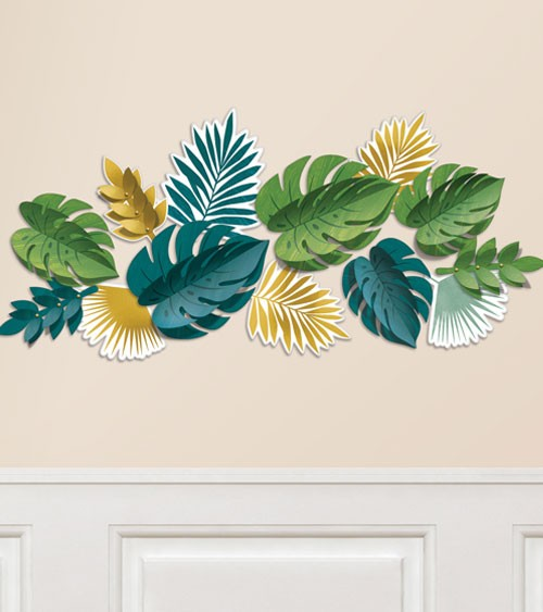 "Wanddeko-Set ""Tropical Gold"" - 13-teilig"