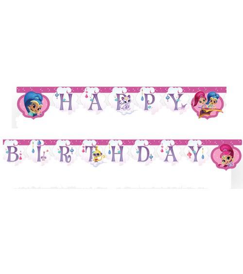 "Happy Birthday-Girlande ""Shimmer & Shine - Glitter Friends"" - 2 m"