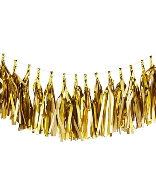 Tassel-Girlande - gold - 3 m