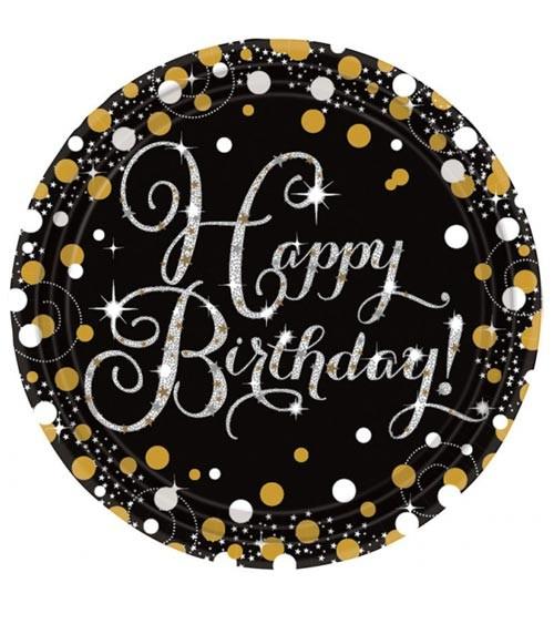 "Pappteller ""Sparkling Celebration"" - Happy Birthday - 8 Stück"