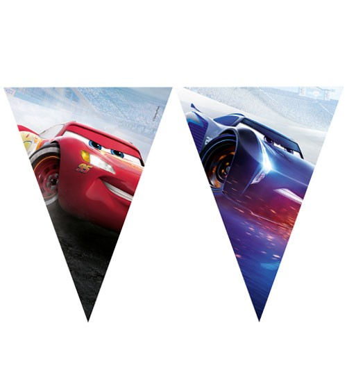 """Wimpelgirlande """"Cars - The Legend of the Track"""" - 2,3 m"""