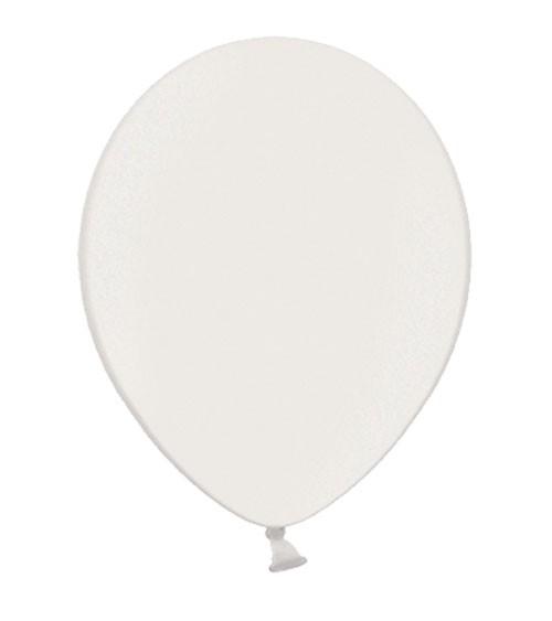 Metallic-Luftballons - weiß - 50 Stück