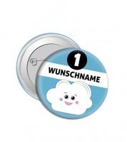 "Dein Button ""Wolke"" - Wunschtext"