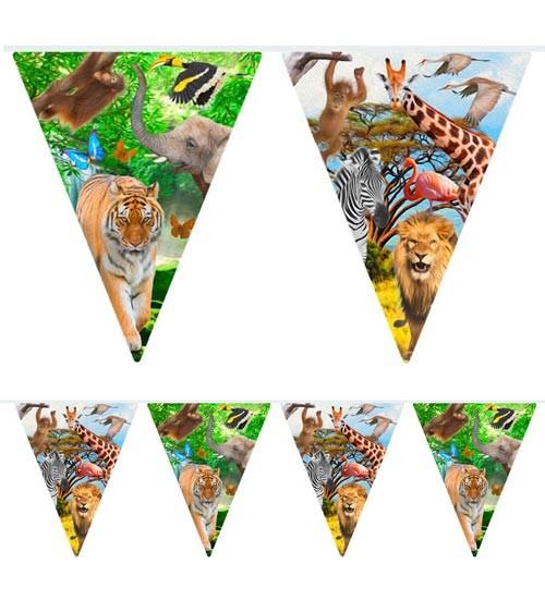 "Wimpelgirlande ""Safari-Party"" - 10 m"