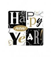 """Kleine Pappteller """"Happy New Year"""" - 8 Stück"""