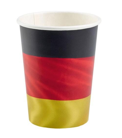 """Pappbecher """"Deutschlandfahne"""" - 8 Stück"""