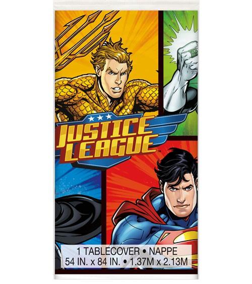"Kunststoff-Tischdecke ""Justice League"" - 137 x 213 cm"