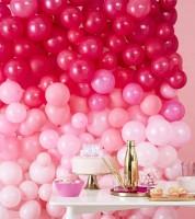 Ballonwand-Set - ombre pink - 211-teilig