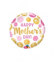 "Runder Folienballon ""Happy Mother's Day!"""