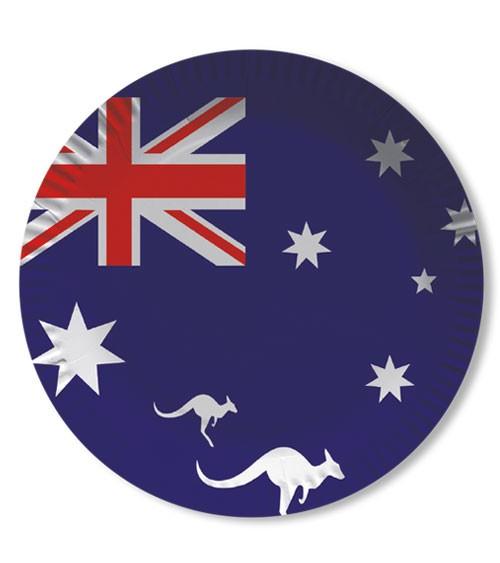 """Pappteller """"Australien"""" - 10 Stück"""