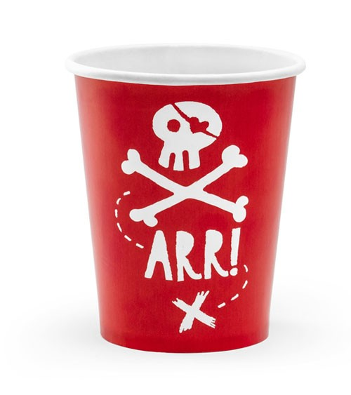 "Pappbecher ""Pirates Party"" - 6 Stück"