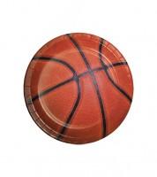 "Kleine Pappteller ""Basketball"" - 8 Stück"
