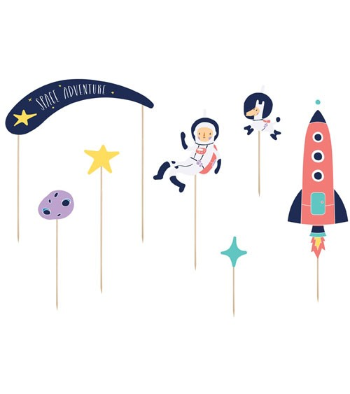 "DIY Cake Topper ""Space Party"" - 7-teilig"