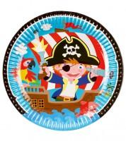 """Pappteller """"Kleiner Pirat"""" - 8 Stück"""