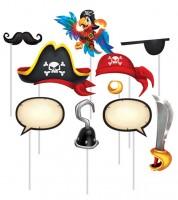 """Photobooth-Props """"Piratenschatz"""" - 10 Stück"""