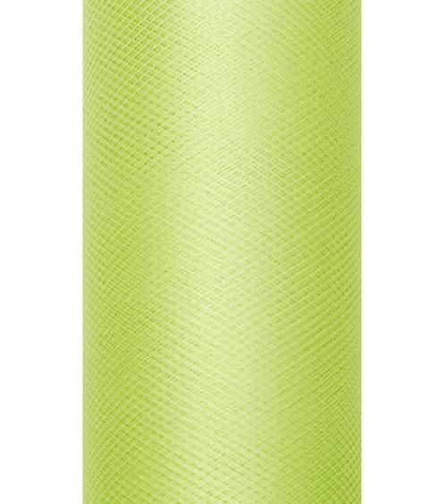 Tischband aus Tüll - hellgrün - 15 cm x 9 m