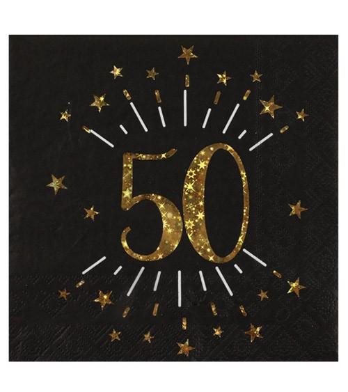 """Servietten """"Sparkling Gold"""" - 50. Geburtstag - 10 Stück"""