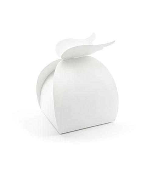 Geschenkboxen mit Engelsflügeln - weiß - 10 Stück