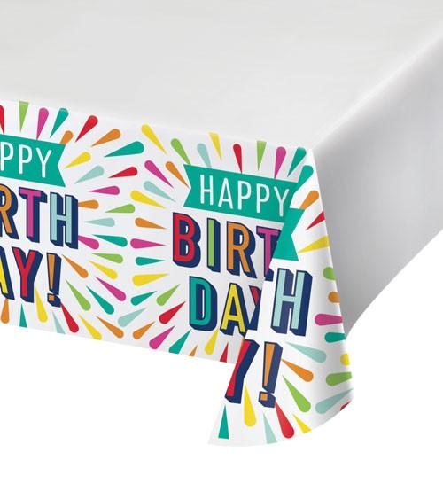 """Papier-Tischdecke """"Birthday Colours"""" - 137 x 259 cm"""