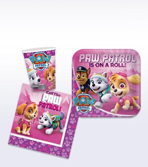 """Deko-Set """"Paw Patrol Pink"""" - 36-teilig"""